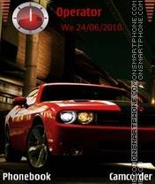 Скриншот темы Dodge Red Hot Car