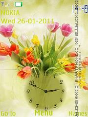 Bouquet clock theme screenshot