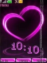 Lilac heart swf theme screenshot
