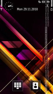 Light Streaks 02 theme screenshot