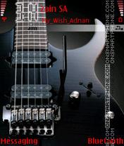 Black Guitar theme screenshot