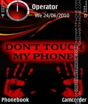 Dont Touch Phone theme screenshot