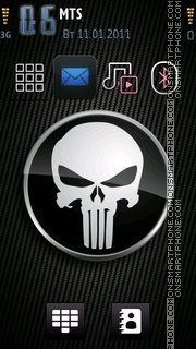 Carbon Skull theme screenshot