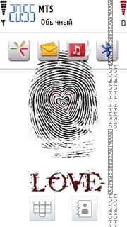 Love Fingerprint es el tema de pantalla
