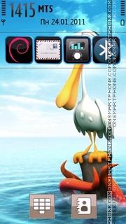3d Bird theme screenshot