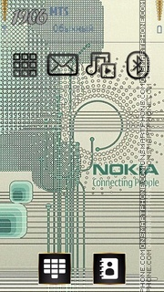 Gold Nokia theme screenshot