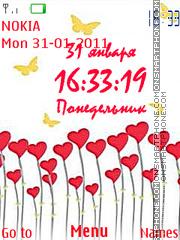 Hearts and Butterflies es el tema de pantalla