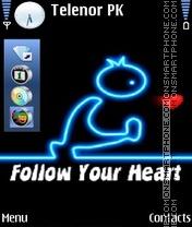 Follow Ur Heart es el tema de pantalla