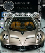 Pagani Huayra theme screenshot