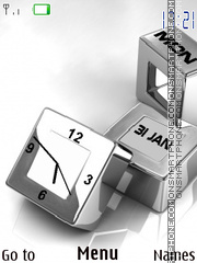3d Sliver Cubes theme screenshot