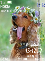 Spring dog theme screenshot