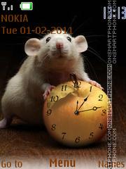 Mouse Clock theme screenshot
