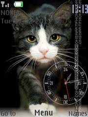Black Cat & Clock theme screenshot