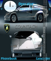 Скриншот темы Lamborghini Countach