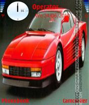 Ferrari testarossa theme screenshot
