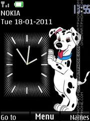 Скриншот темы Dog Clock