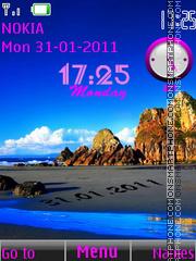 Nature Clock Date theme screenshot