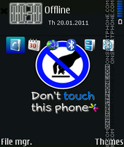 Dont Touch 16 theme screenshot