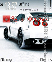 Nissan GTR 13 theme screenshot