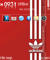 Adidas 47 theme screenshot