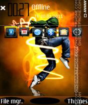Electronic Dance 01 es el tema de pantalla