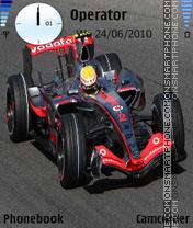 Lewis Hamilton-F1 theme screenshot