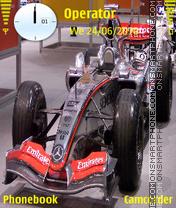 Mclaren Mercedes-F1 theme screenshot