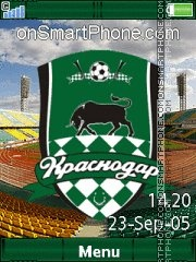 FC Krasnodar Yari theme screenshot