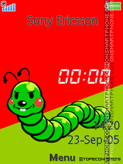 Insect Clock tema screenshot