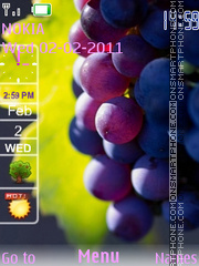 Grapes With Icons theme screenshot