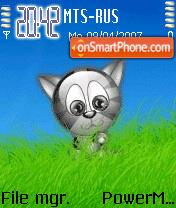Animated Cute Cat es el tema de pantalla