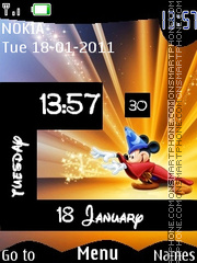 Mickey Magic Clock es el tema de pantalla