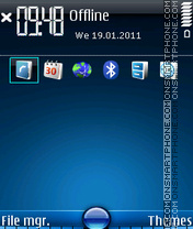 Blue 523 theme screenshot