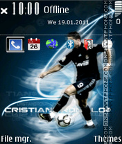 Cristiano Ronaldo 18 theme screenshot
