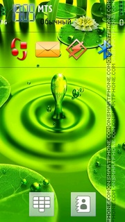 Скриншот темы Green Drops 02