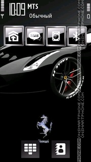 Black Ferrari 03 theme screenshot