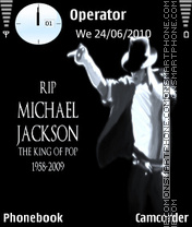 Michal jackson theme screenshot