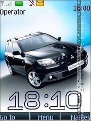 Mitsubishi outlander swf theme screenshot