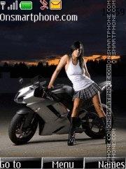 Girl And Bike 01 theme screenshot
