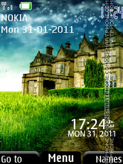Скриншот темы 3d Nature Clock