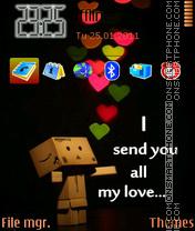 Sending Love theme screenshot