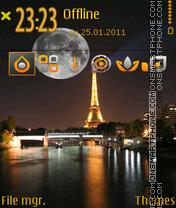 Скриншот темы Romantic Night 03