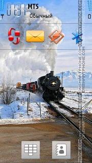 Скриншот темы Snow Train