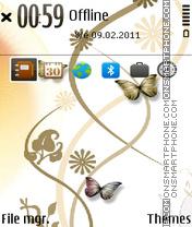 Gold Butterfly theme screenshot