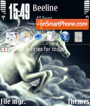 Horse In The Night QVGA theme screenshot