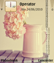 Vintage flower tema screenshot