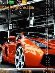 Lambo With Mp3 theme screenshot