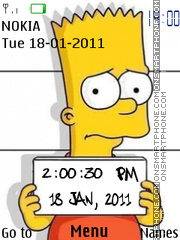 Simpsons Clock tema screenshot