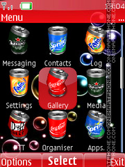 Animated Coke 01 theme screenshot
