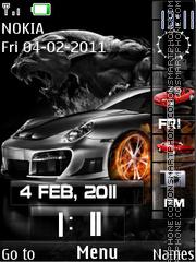 Porsche Sidebar theme screenshot